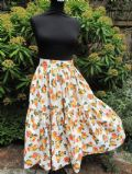 1950's Gathered cotton skirt with rose print. **SOLD** es